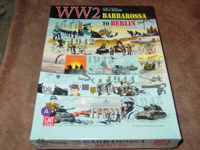 GMT-Guerra Mundial 2-Barbarossa a Berlín Juego + mapa de expansión (sellado) 1st modifiCoche.