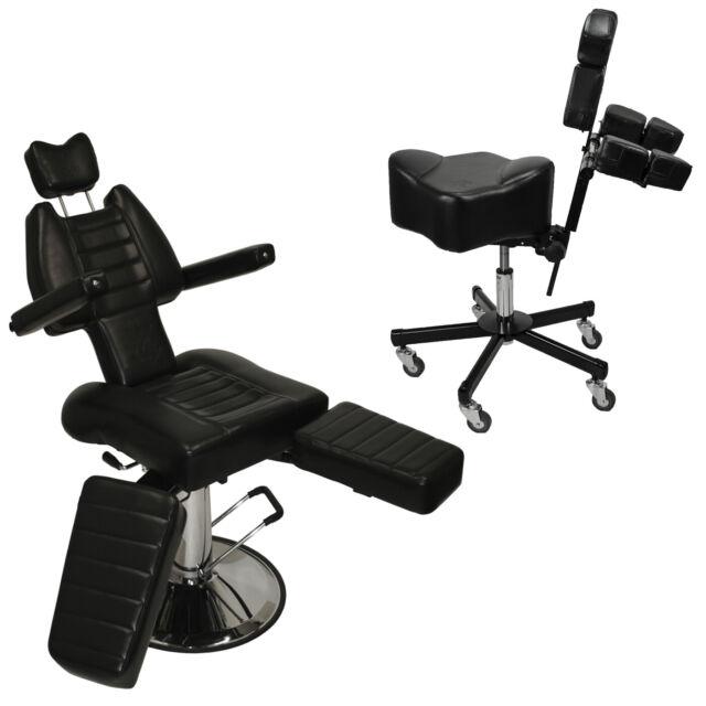 3patented Tattoo Studio Hydraulic Ink Chair & Stool Ergonomic Artist  Equipment