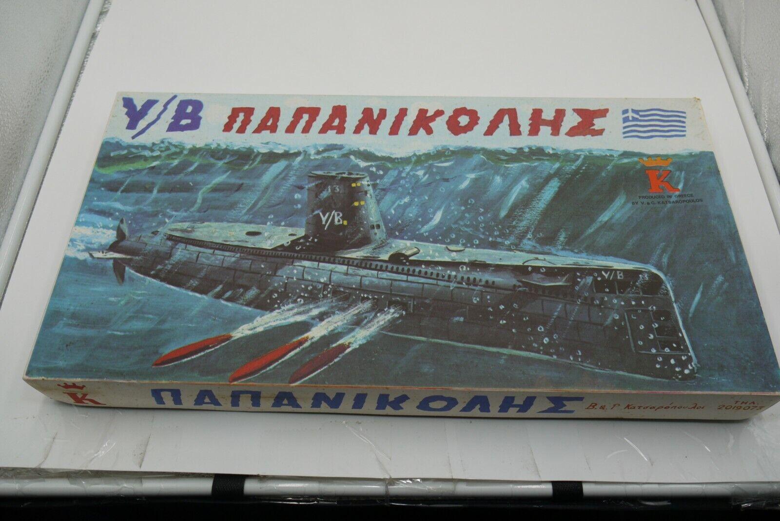 VINTAGE 70'S GREEK BOARD GAME PAPANIKOLIS SUBMARINE BATTLE UNPUNCHED