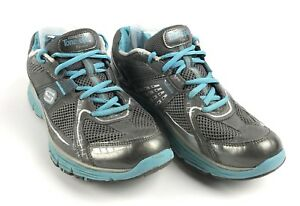 Details about Skechers women's 9.5 Tone ups Blue Gray Fitness walking toning shoes 11751