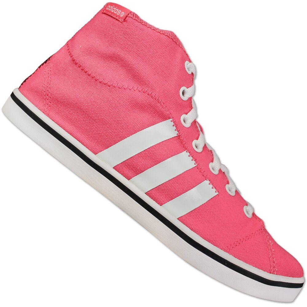 Adidas Neo Canvas vlneo Bball Femmes mid top sneaker chaussures d'été rose 39 1/3-