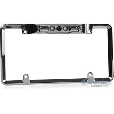 Boyo VTL275TJ Chrome License Plate Frame w//rear-view Cam,Trajectory Parking Line