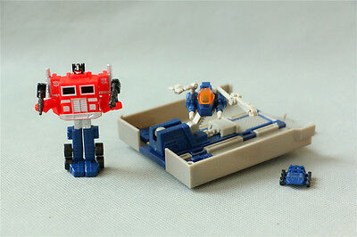 Transformers SUPER MINI Tiny G1 Style OPTIMUS PRIME + Trailer Autobot Toy Figure