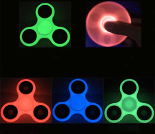 Glow In the Dark Hand Spinner Tri Fidget Toy Stocking Stuffer Focus Tool Desk