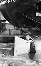 1968 Toronto, Ontario Harbor/Dry Docks in Winter Orig. B&W 35mm Film Negative #3