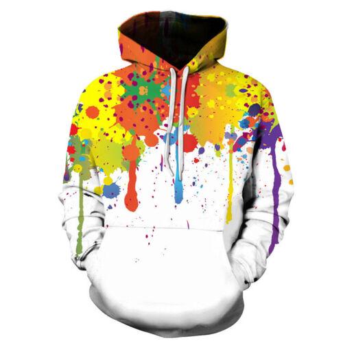 New Women Men Tie-dye Colorful 3D Print Casual Pullover Hoodie Sweatshirt S-5XL