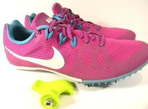 305da780e3b Nike Rival M Track and Field Racing Spikes Cleat Pink White Blue ...