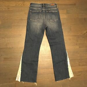 Pilcro-And-The-Letterpress-Wide-Leg-Raw-Hem-Stretch-Denim-Jeans-Woman-s-Size-27