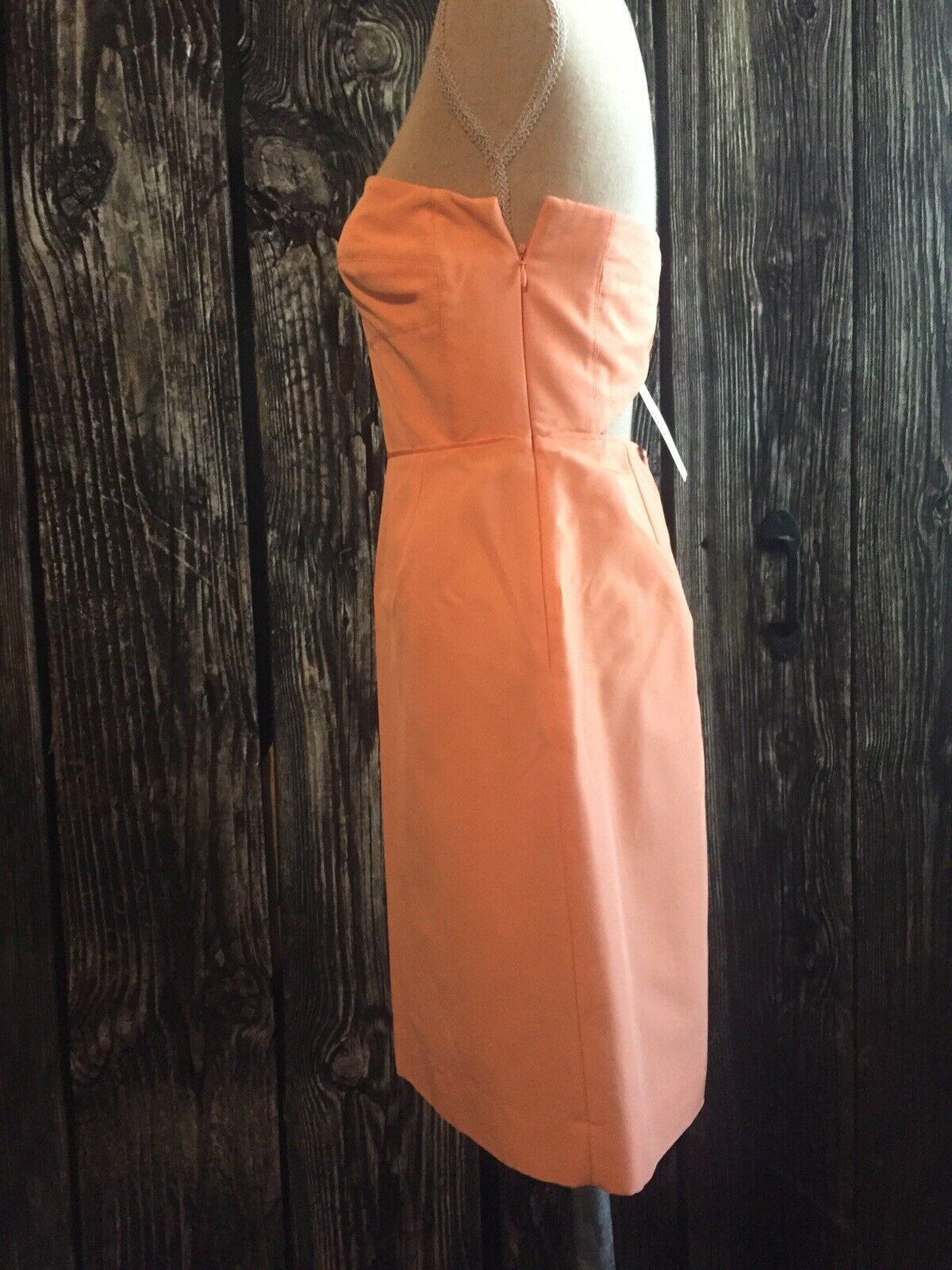 JCREW Rory Collection strapless dress in classic faille faille faille Size 2 NWT TANGERINE 6120ec