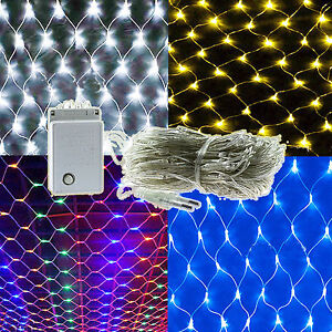 LED Net Mesh Fairy String Lights Xmas Christmas Wedding Garden Party Decoration