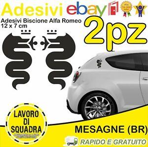 KIT-2-Adesivi-Biscione-ALFA-ROMEO-sticker-MITO-147-159-GIULIA-STELVIO-NERO-BLACK