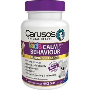 CARUSO-039-S-KIDS-CALM-amp-BEHAVIOUR-75G-BERRY-STRESS-ANXIETY-CALMING-AND-RELAXATION