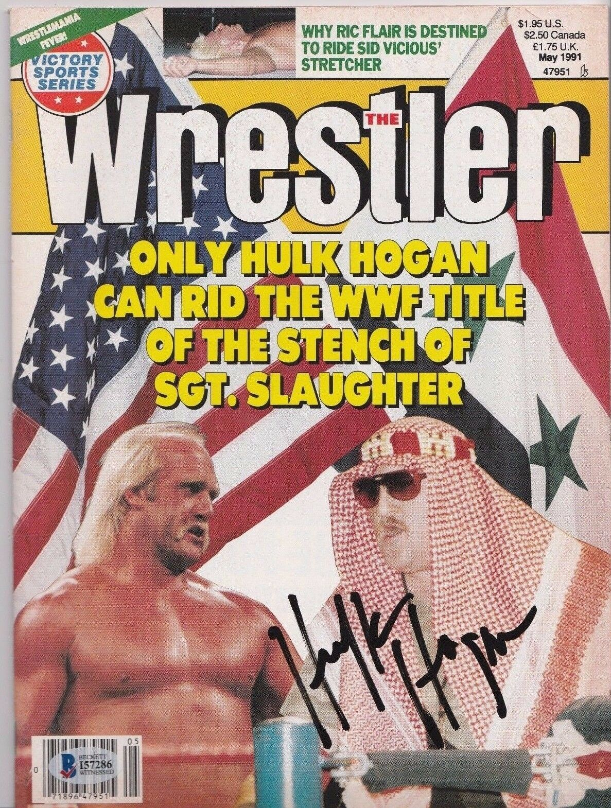 Hulk Hogan Signed May 1991 The Wrestler Magazine Beckett BAS