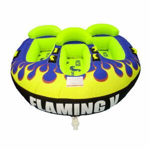 Ski-Tube-Water-sports-Towable-Tube-Family-Fun-Float-Adrenaline-Flaming-V