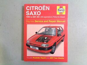 haynes manual hardback book citroen saxo 96 01 n to x petrol rh ebay co uk citroen saxo manual pdf citroen saxo manuel d'utilisation