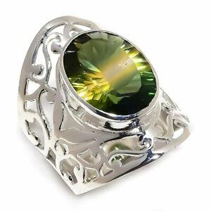 Bi-Color-Tourmaline-Natural-Gemstone-925-Sterling-Silver-Ring-Size-7-5-R-84