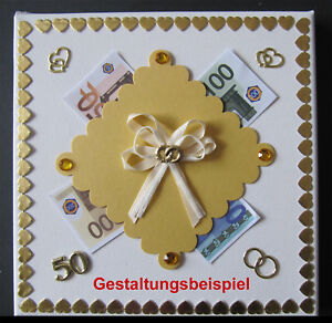 Details Zu Geschenk Goldene Hochzeit Goldhochzeit 50 Hochzeitstag Verpackung Geldgeschenk