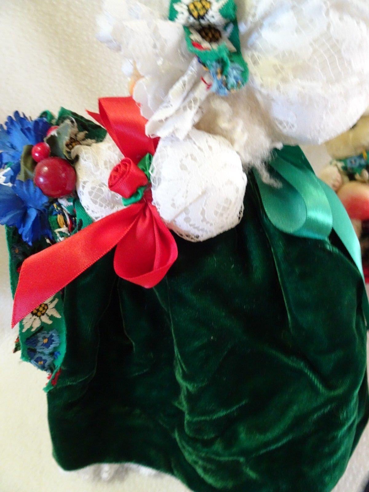 APPLE WHIMSEY'S 12  CHRISTMAS bambola WITH orso ON SLEIGH-1978 SLEIGH-1978 SLEIGH-1978 LITA GATES-EXCELLENT 4e8e38