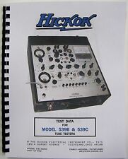 1971 Hickok 539b 539c Manual All The Test Data There Is Western Electric