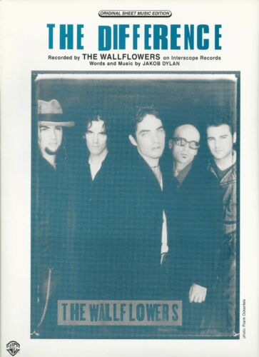 Wallflowers (Jacob Dylan)  The Difference  US Sheet Music