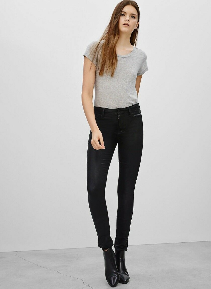 Aritzia The Castings High Rise Waist Skinny Coated Jeans Size 24 MSRP