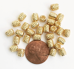 bulk alloy spacer beads 60 light gold  tube spacer beads 6x5mm with 3mm hole