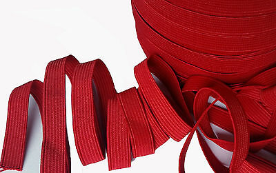 12MM RED Flat Elastic,For Dressmaking Waistband,Cuff,Tailoring,Softfurnishing