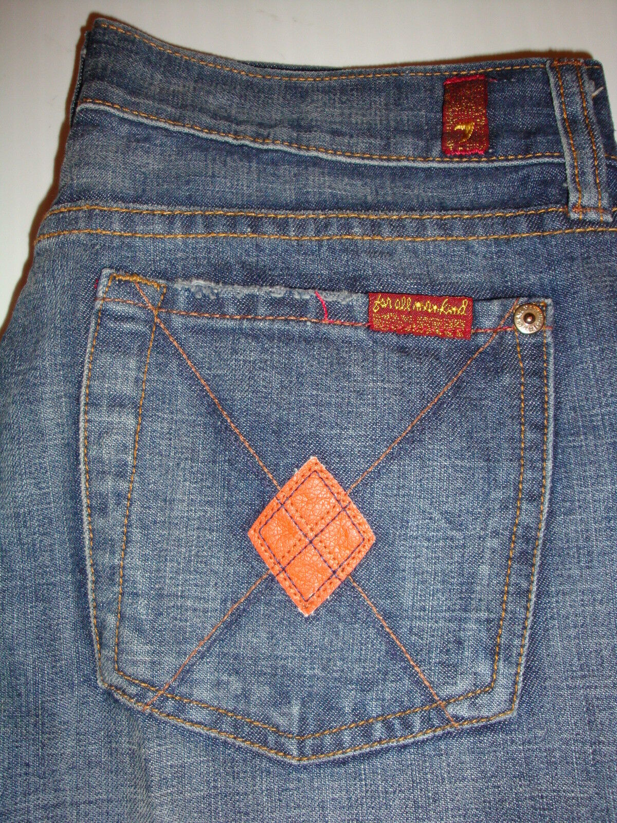 Seven 7 For All Mankind Jeans 27 x 32  Slim Fit Women's NICE CUTE MINT