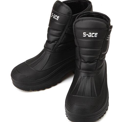 Black Warm Waterproof Winter Snow Mens Boots