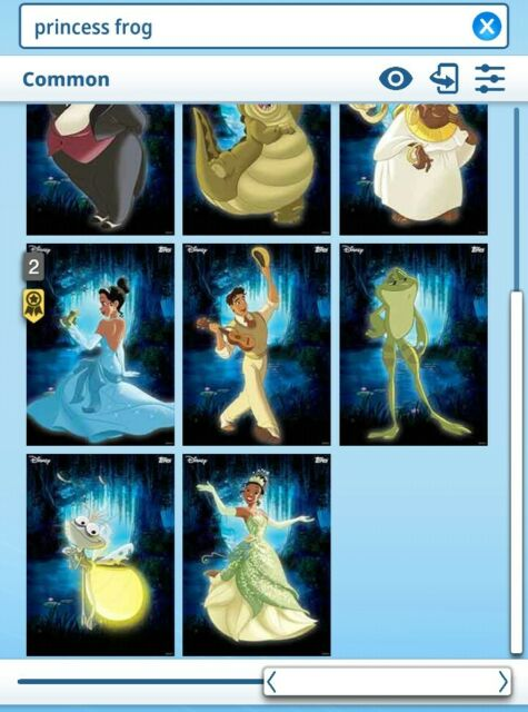 Topps Disney Collect - The Princess and the Frog Characters set + award DIGITAL