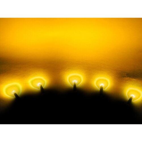 Vollständig wasserdicht 5 x Gelbe LEDs für 24V
