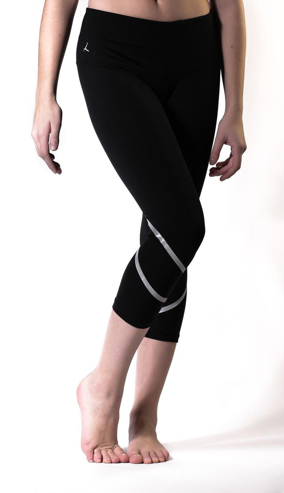 Womens High Waist Fitness YOGA Sport capris Reflective pant