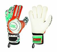 Goalkeeper Gloves Kids Adults Football Youth Roll Finger Save Gloves Red Green