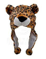 US - Seller Leopard Animal Plush Hat