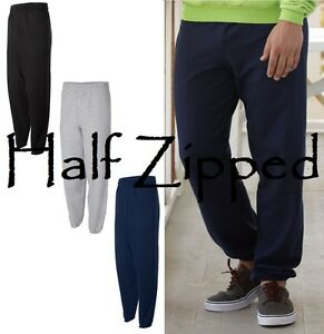 Hanes-Ecosmart-Sweatpants-P650-S-3XL-Elastic-Cuffs-3-Colors