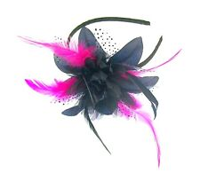 560d1f46e51ce item 1 Navy blue and flower cerise pink fascinator headband -Navy blue and  flower cerise pink fascinator headband
