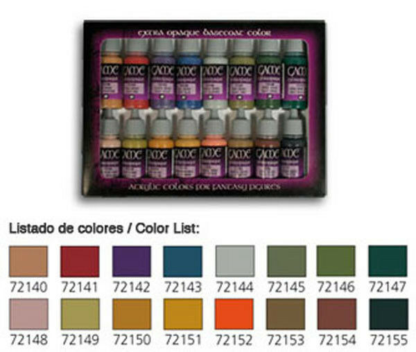 Vallejo VLJ-72291 Vallejo Game color Leather And Metal Paint Set