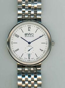 BWC-Slimline-Damen-oder-Herrenuhr-Quartz-superflach-mit-Stahlband
