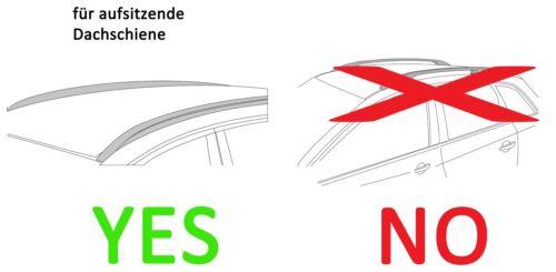 Reling für BMW X5 F15 ab 13 Dachbox weiß VDPMAA320 Lit Alu-Relingträger aufl