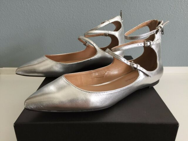 c1bfbd04e5e1 Banana Republic Women s Shoes Abby Shoe Silver Leather Size 7 for ...