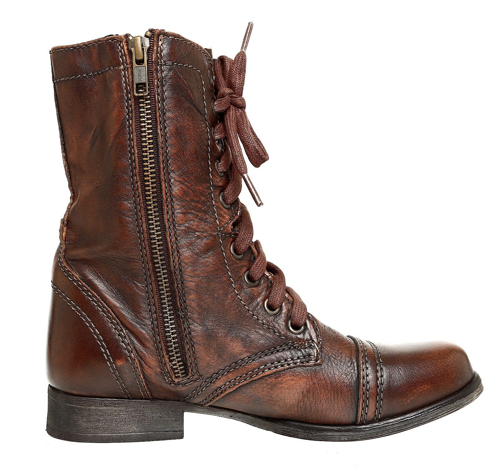 Steve Madden Troopa Leather Stiefel braun damen Sz 6.5 M M M 4023  3ddd54