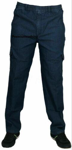 NUOVA Linea Uomo Pantaloni Cargo Elasticizzati Mian Combat Multi Tasca Pantaloni Lunghi Jeans
