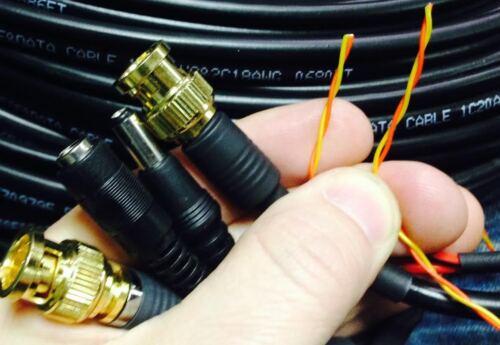 35/'PLUG PLAY CCTV VIDEO RG59U RS485 POWER PTZ DATA SIAMESE COMPRESSION BNC CABLE