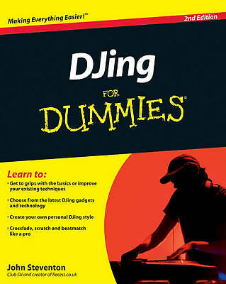 1 of 1 - DJing For Dummies, Steventon, John, Good Book