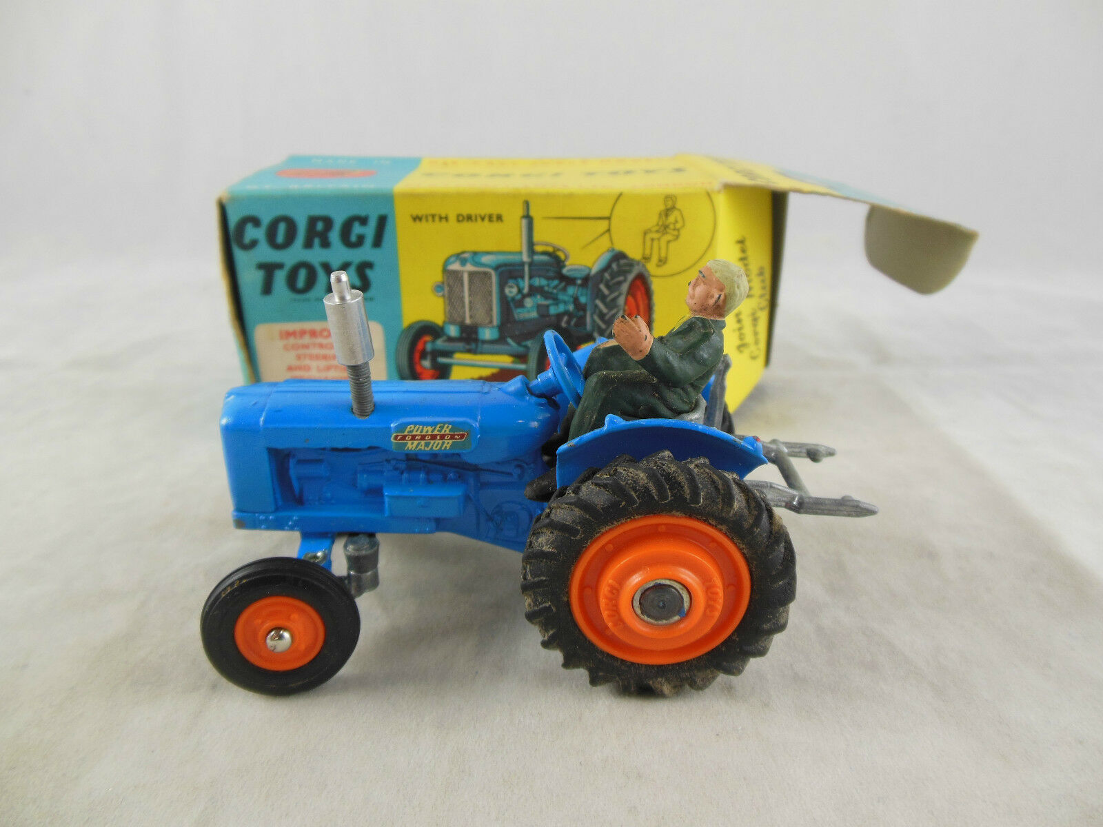 Corgi toys 60 Fordson  Power Major  Tractor with Driver Boxed