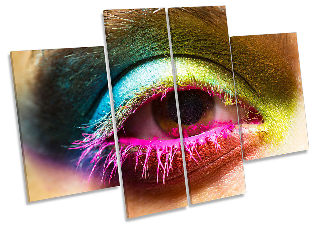 Beauty Eye Make up Salon CANVAS WALL ARTWORK Four Panel Art