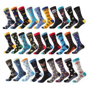 NEW-Mens-Cotton-Socks-Animal-Alien-Bear-Chili-Moustache-Novelty-Funny-Sock-8-13