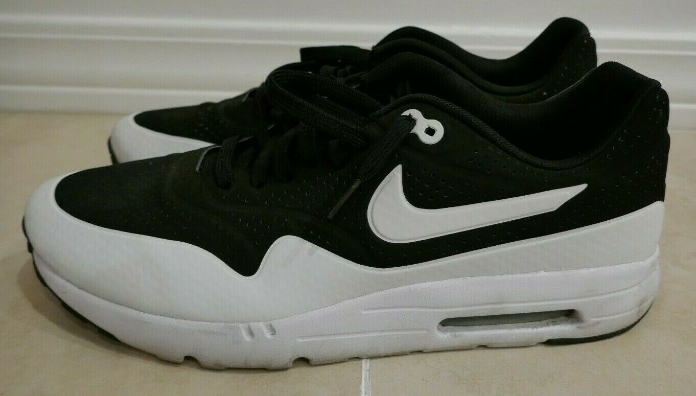 NIKE AIR MAX 1 ULTRA MOIRE BLACK WHITE SIZE 13 SHOES RARE  705297-001 MAKE OFFER