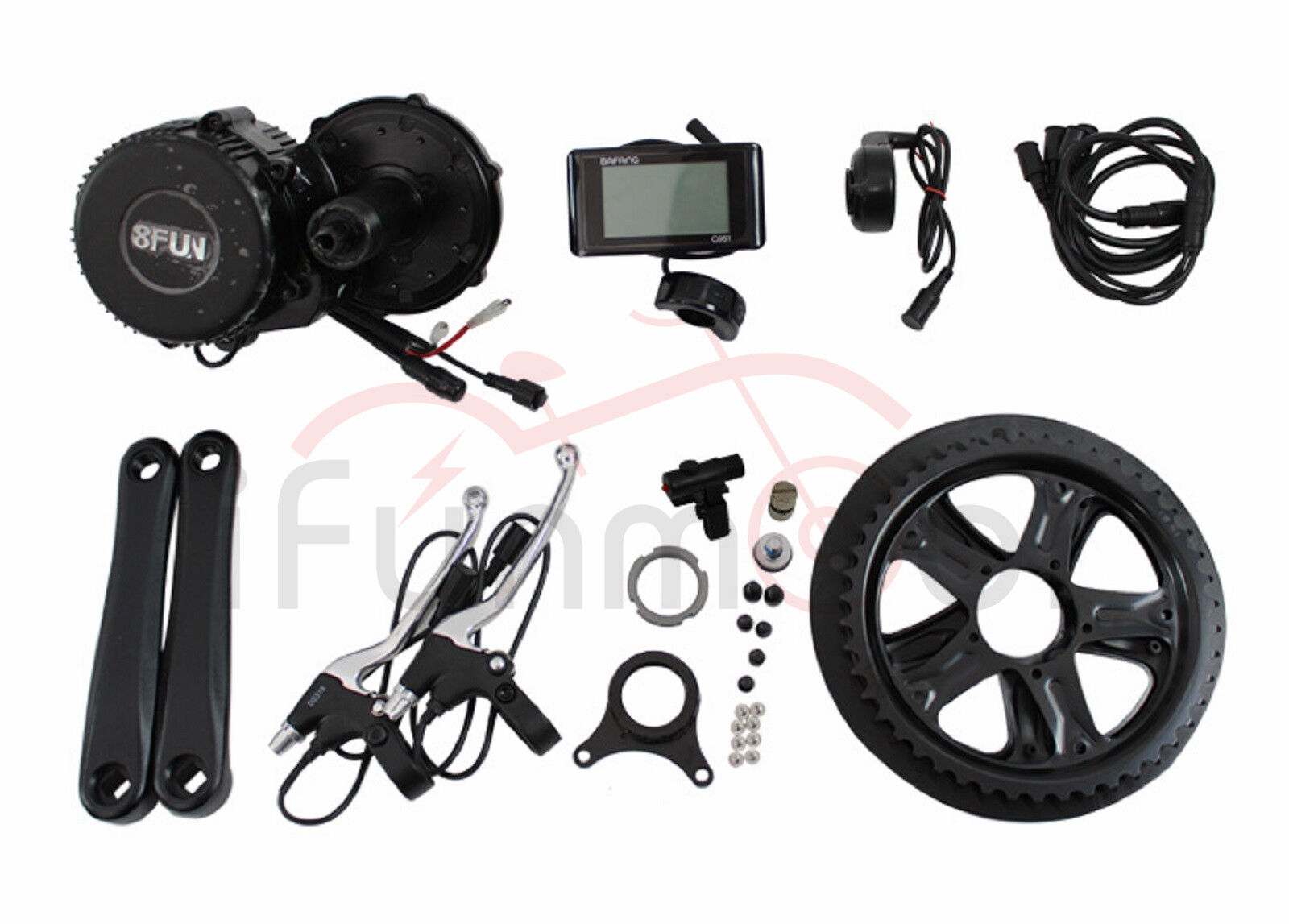 Bafang 8Fun BBS01 36V 48V 250W 350W  Mid-Drive Motor E-Bike Kits With LCD Panel  online outlet sale