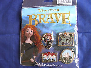Disney-PRINCESS-MERIDA-BRAVE-New-in-Pack-Retired-4-Pin-Booster-Set